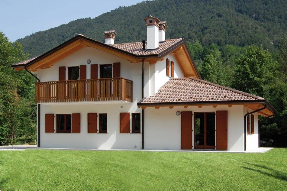 case a due piani in montagna abc costruzioni