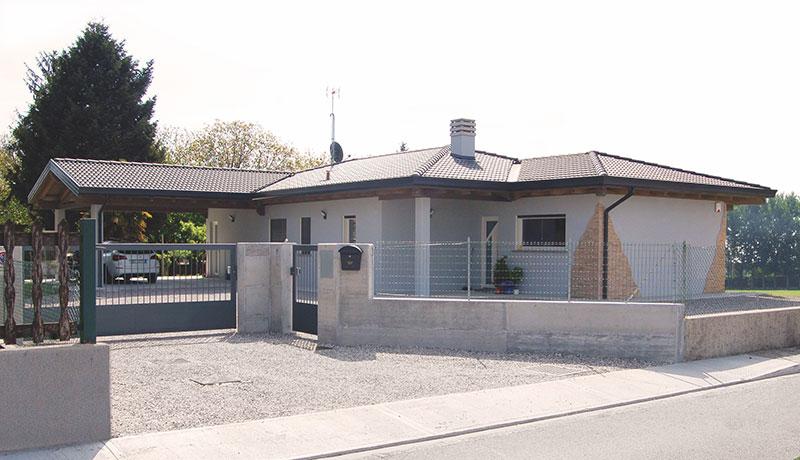 Casa a un piano con impianto domotico